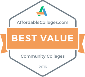 AffordableColleges.com Best Value Community Colleges Badge
