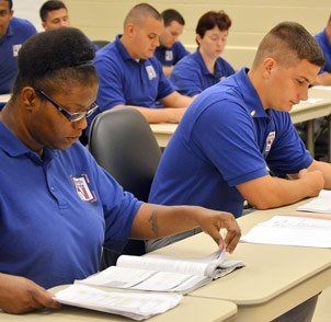 Public Safety Academy Class with Students
