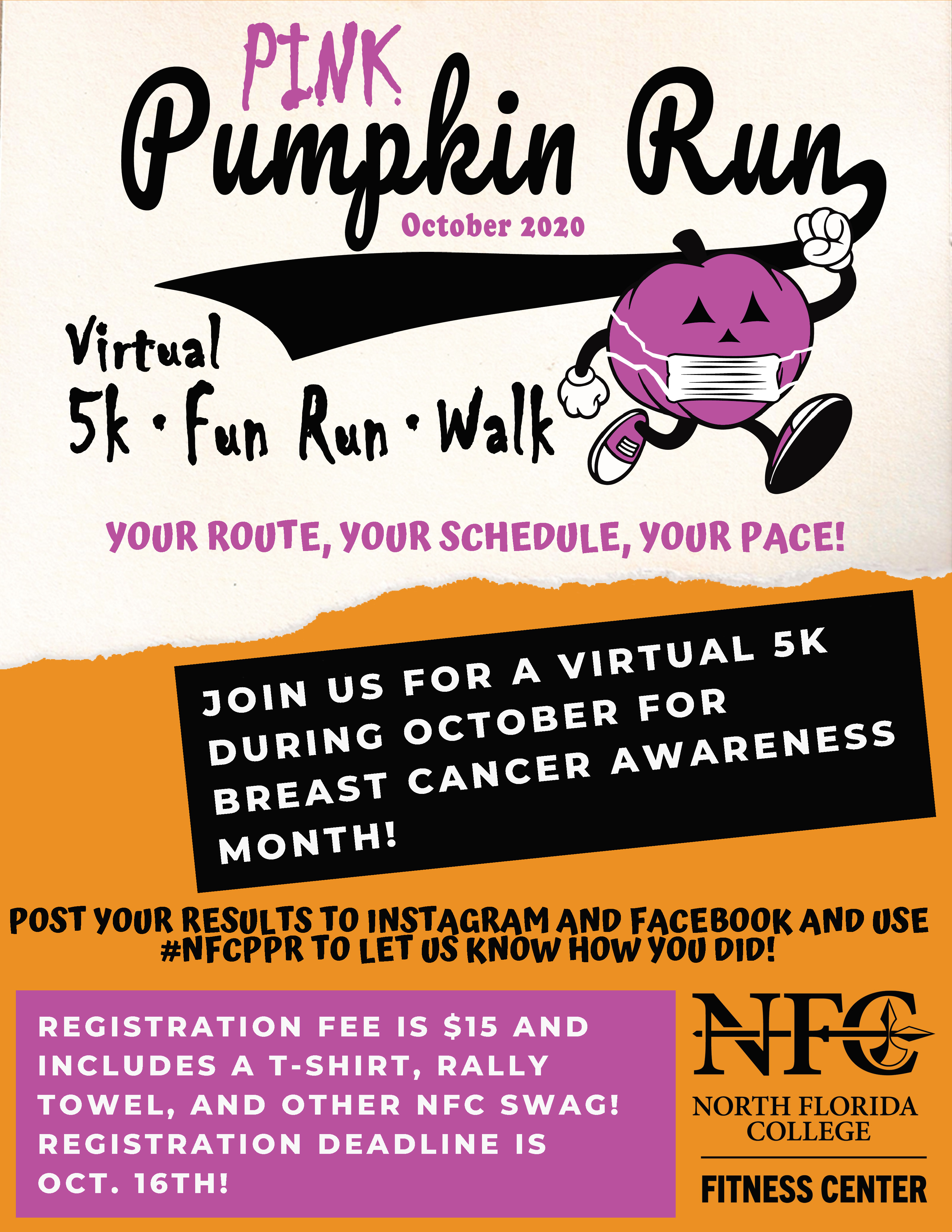 Pink Pumpkin Run Flyer 2020 Image