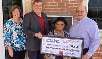 Madison County Community Bank Donation Photo April 2021
