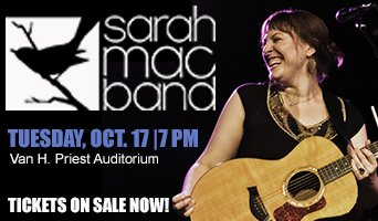 Sarah Mac Band Performs Oct 17 at NFCC