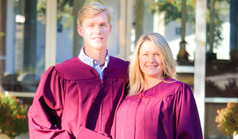 NFCC graduates Gabe Miller and Angela Eastabrooks December 2017