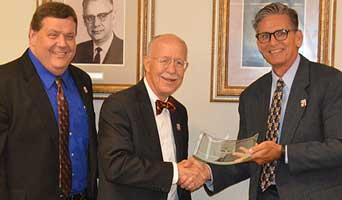 NFCC Board Honors College Attorney Bruce Leinback for 20 Years of Service