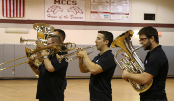 Artist Series takes Presidio Brass to MCCS Sept 29 2017