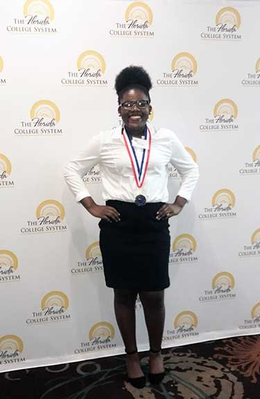 Monica Powe at All-Florida Academic Team Award Ceremony in Tampa April 2018