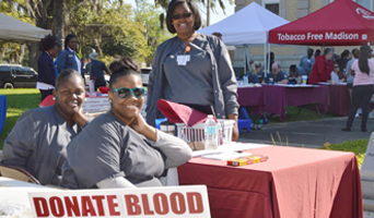 Photo of NFCC students helping at Community Health Fair
