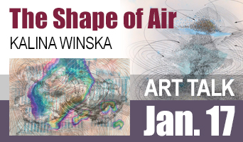 Image announcement for Kalina Winska Art Talk Jan 17 2018