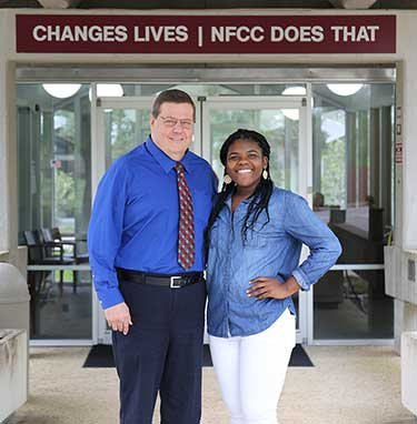 NFCC President John Grosskopf and Monica Powe