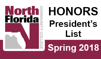 President's List for Spring Term 2018