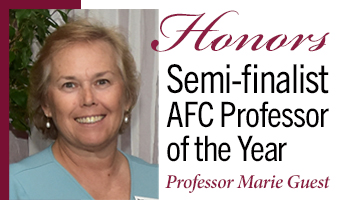 Marie Guest Semi-finalist 2020 AFC Professor of the Year