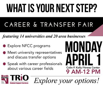 Career and Transfer Fair April 1 2019